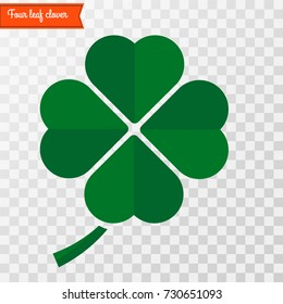 Four leaf clover icon . Vector illustration.