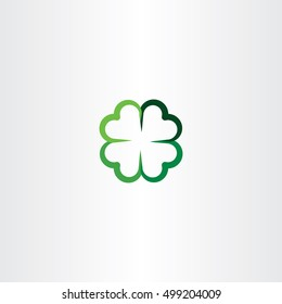 four leaf clover luck icon vector
