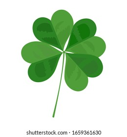 Four leaf clover and lucky leaf vector