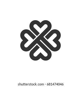 Four Leaf Clover Ornamental Logo Template Illustration Design. Vector EPS 10.