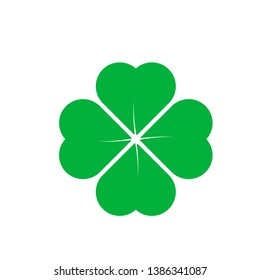 Four Leaf Clover St. Patricks Day Icon Vector Illustration - Vector