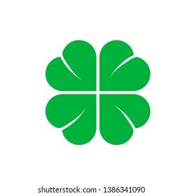 Four Leaf Clover St. Patricks Day Icon Vector Illustration - Vector