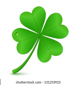 Four leaf clover. Vector illustration. St. Patrick's day symbol