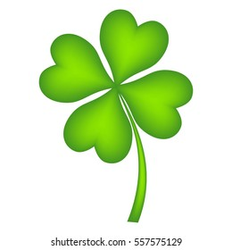 Four leaf clover, vector illustration