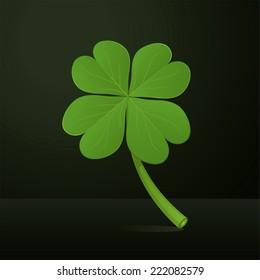 Four leafs clover vector illustration.