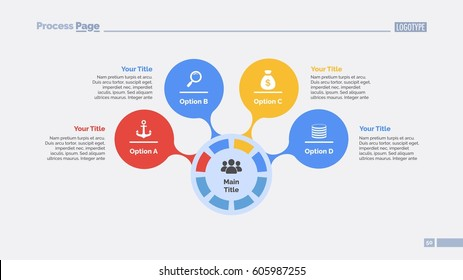 Four Options Circles Slide Template