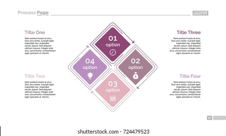 Four Options Diagram Slide Template