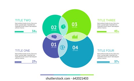 Four Overlapping Circles Slide Template