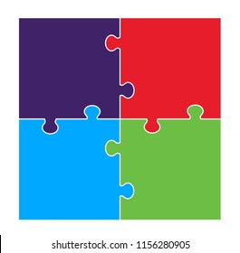 Four Part Square Puzzle