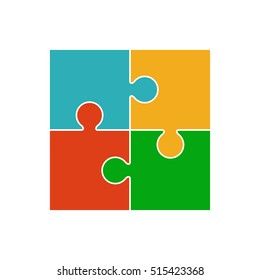 4 Puzzle Pieces Images Stock Photos Vectors