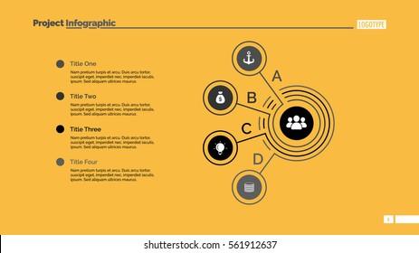 Four Points Process Chart Slide Template