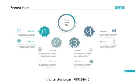 Four Points Workflow Slide Template