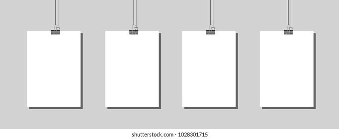 Four poster mockup Vector EPS 10