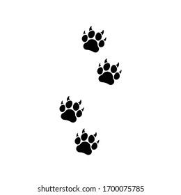 four prints of paws icon black vector