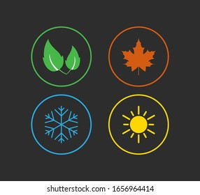 Four season icon. Vector illustration, flat design.