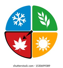 four seasons of the year logo icon concept. isolated vector illustration eps10