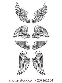 Four set of Wings