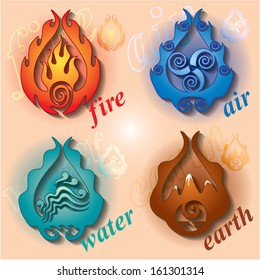 four signs is earth, water, air and fire