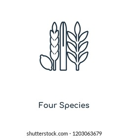 Four Species concept line icon. Linear Four Species concept outline symbol design. This simple element illustration can be used for web and mobile UI/UX.