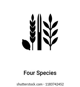 Four Species icon vector isolated on white background, logo concept of Four Species sign on transparent background, filled black symbol