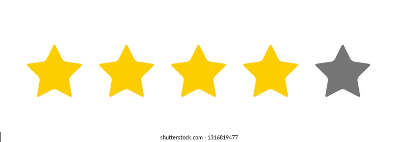 four stars icon  Vector