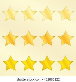 Four Stars set on white background vector illustration.