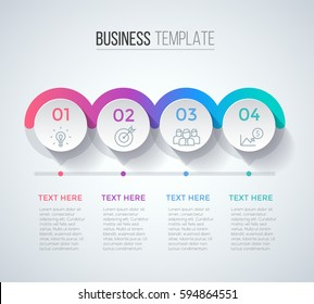 Four steps infographics, business data visualization, timeline concept