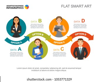 Four steps process charts. Business data. Team, workflow, diagram. Creative concept for infographic, templates, presentation. Can be used for topics like teamwork, planning, management.