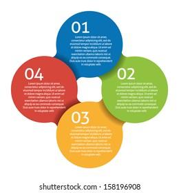 Four steps process - design element. Vector.