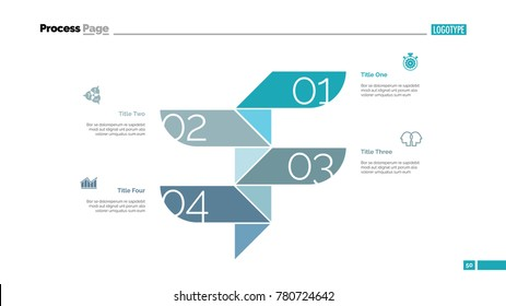 Four Steps Process Slide Template