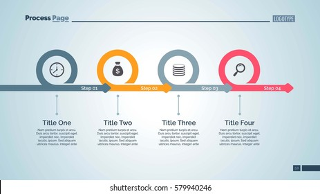 Four Steps Timeline Slide Template