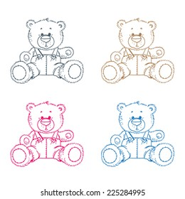 Four teddy bears