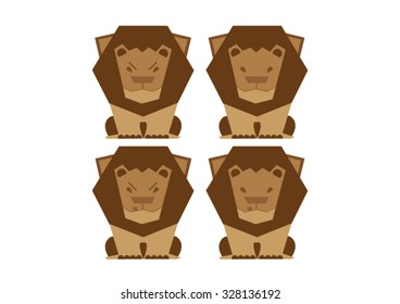 Four Variants Of Lion