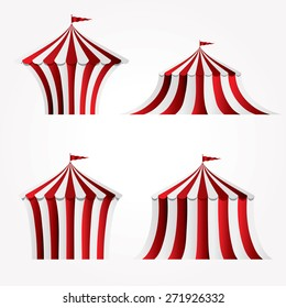 four variations of circus tent