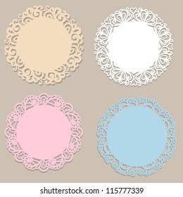 Four vintage round frames