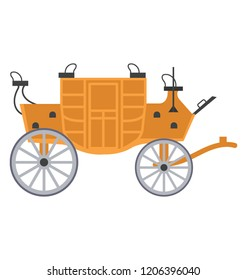Four wheeled vintage carriage known as barouche