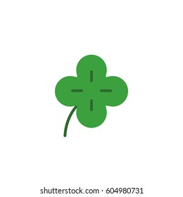 four-leaf clover icon. vector illustration