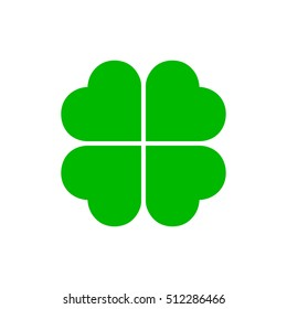 Four-leaf clover, Leaf clover sign icon.