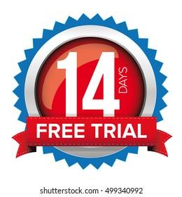 Fourteen days free trial badge