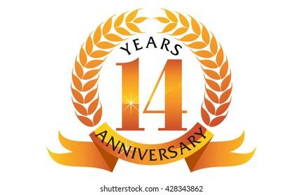 Fourteen Years  Ribbon Anniversary