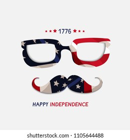 Fourth of July. 4th of July holiday banner. USA Independence Day banner for sale, discount, advertisement background.
