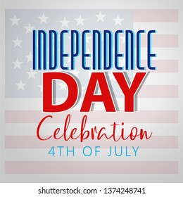 Fourth of July. 4th of July holiday banner. USA Independence Day banner for sale, discount, advertisement, web etc - Vector