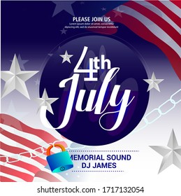 Fourth of July background - American Independence Day vector illustration