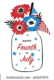 Fourth of July Card Design. Fourth of July Greeting Card.