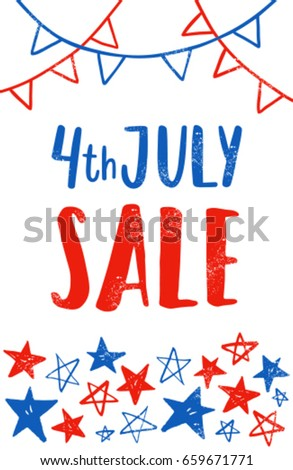 fourth july flyer template independence day stock vector royalty
