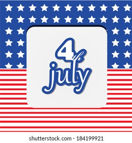 Fourth Of July Greeting Card, Poster, Flyer