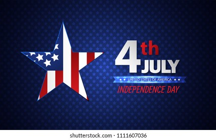 Fourth of July Independence Day. Abstract background. Vector