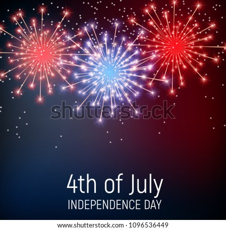 Fourth July Independence Day United States Stock Vector Royalty