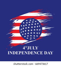 Fourth of July. Independence day. vector sign