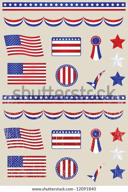 Fourth of July Patriotic Design Set